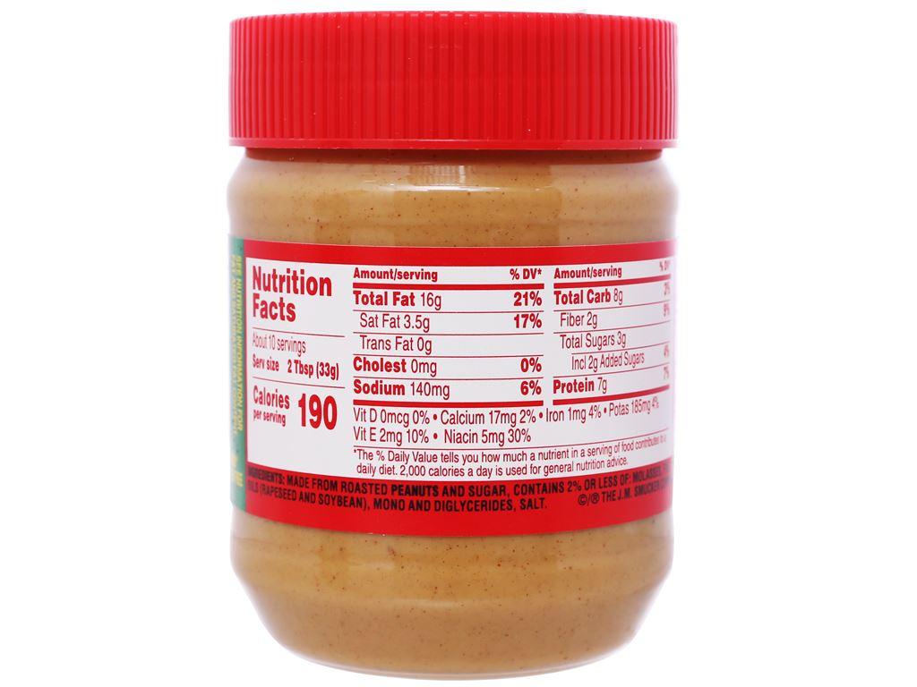 Bơ đậu phộng mịn Jif hũ 340g 2
