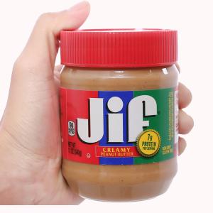 Bơ đậu phộng mịn Jif hũ 340g