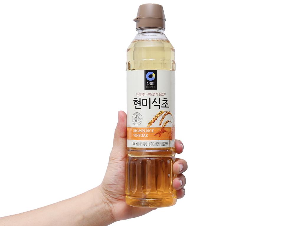 Giấm gạo lứt Chung Jung One chai 500ml 3