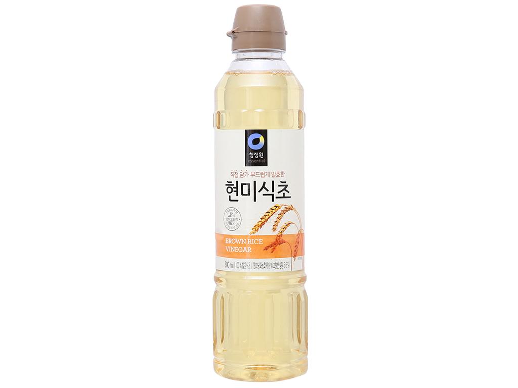 Giấm gạo lứt Chung Jung One chai 500ml 1
