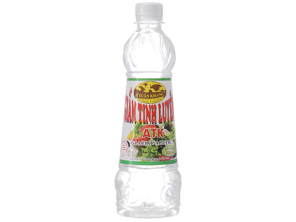 Giấm tinh luyện A Tuấn Khang chai 500ml 1