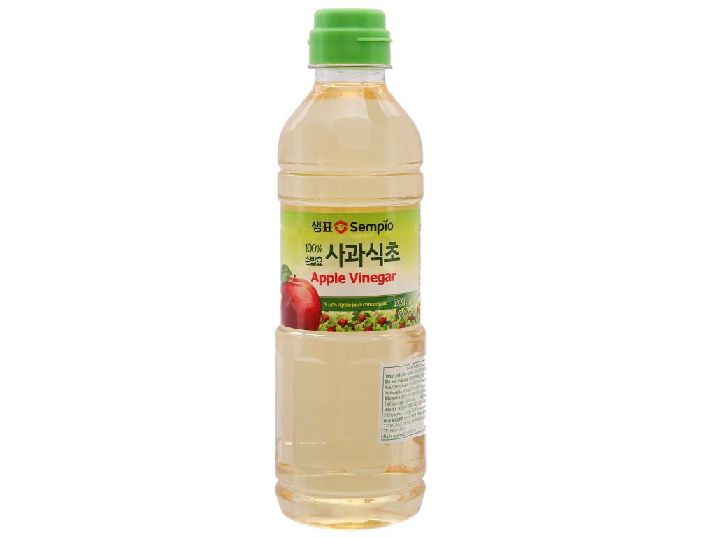 Giấm táo Hàn Quốc Sempio chai 500ml 1