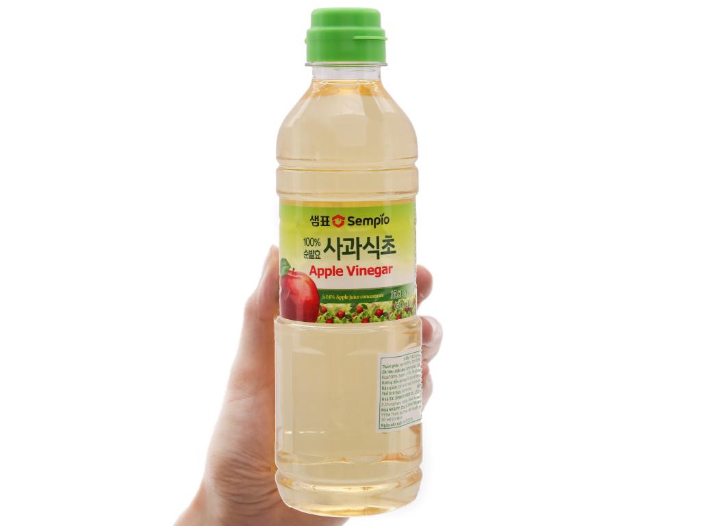 Giấm táo Hàn Quốc Sempio chai 500ml 3