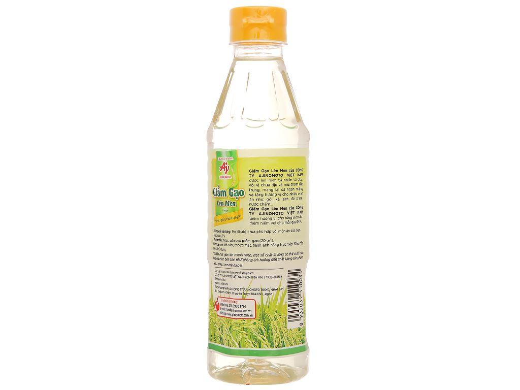 Giấm gạo lên men Ajinomoto chai 400ml 2