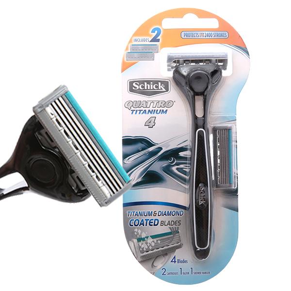 Dao cạo râu 4 lưỡi Schick Exacta Quattro Titan