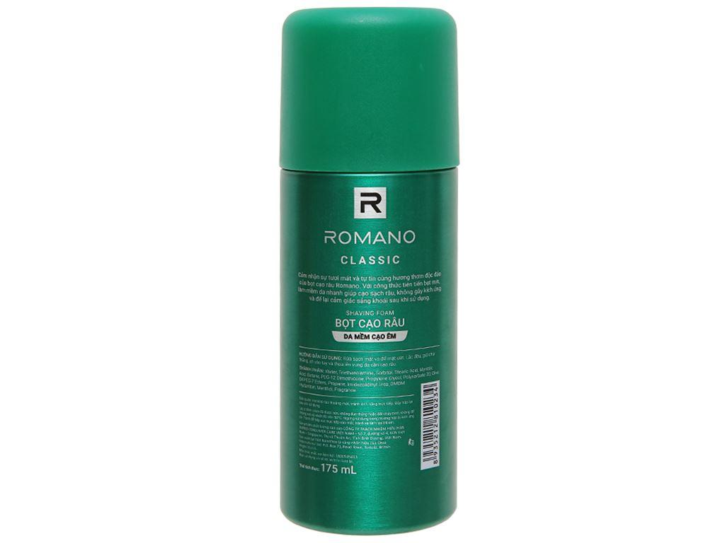 Bọt cạo râu Romano Classic 175ml 5