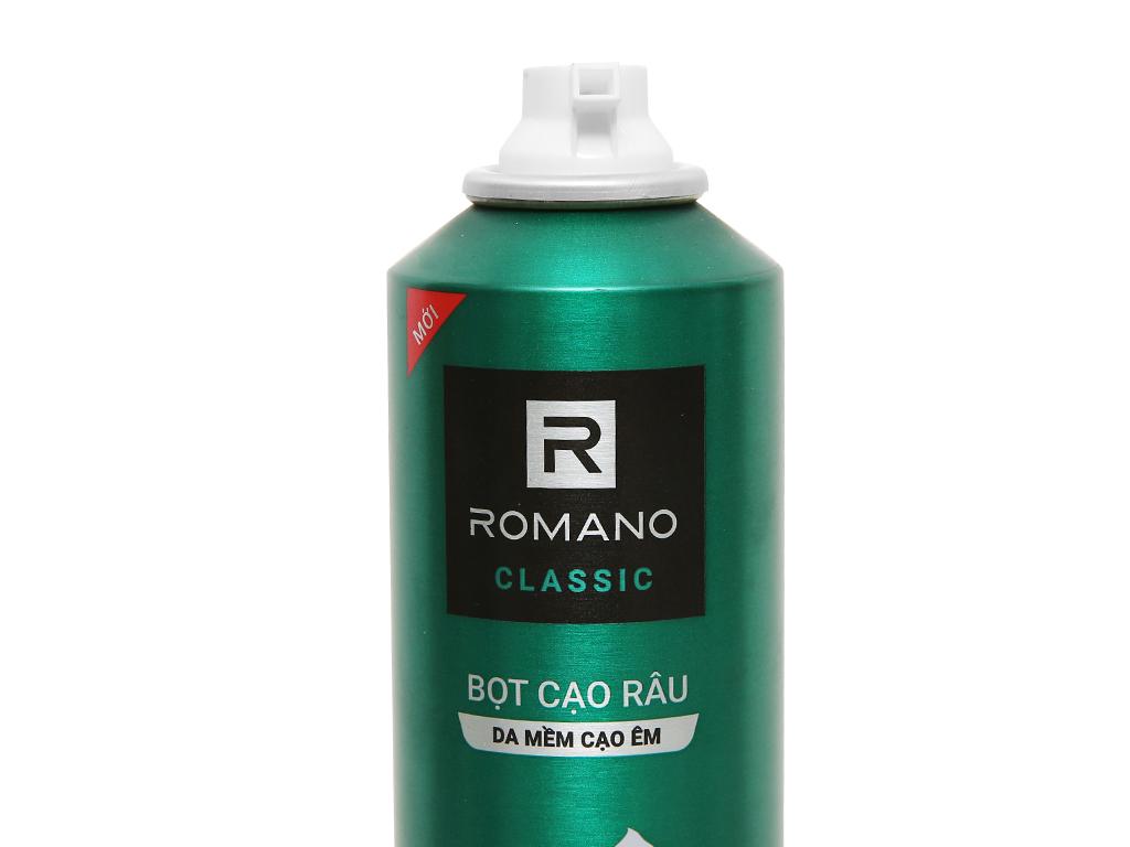 Bọt cạo râu Romano Classic 175ml 8