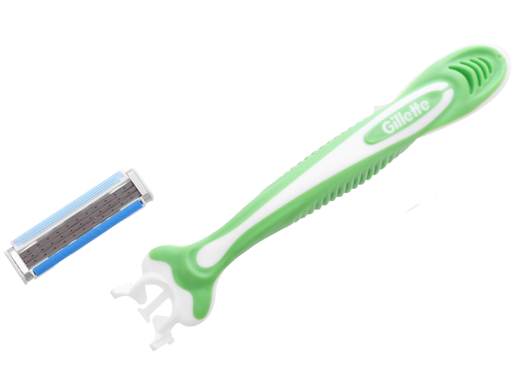 Bộ 4 cây dao cạo râu 3 lưỡi Gillette Blue 3 Sensitive 3