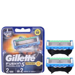 2 cái lưỡi dao cạo râu 5 lưỡi Gillette Fusion 5 Power