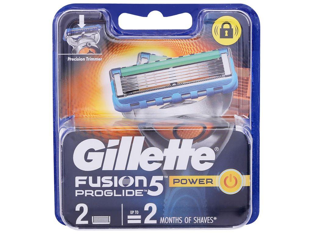 2 lưỡi dao cạo râu 5 lưỡi Gillette Fusion 5 Power 1
