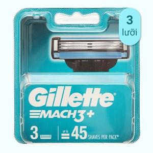 Vỉ 3 cái lưỡi dao cạo râu Gillette Mach 3 +