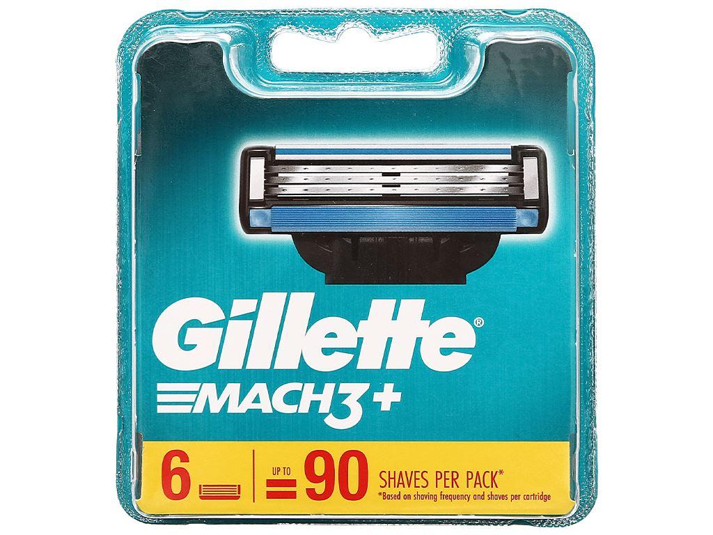 Vỉ 6 cái lưỡi dao cạo râu Gillette Mach 3 + 1