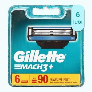 Vỉ 6 cái lưỡi dao cạo râu Gillette Mach 3 +