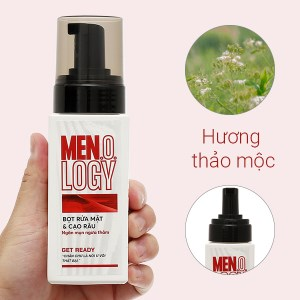 Bọt rửa mặt & cạo râu MEN.O.LOGY ngăn ngừa mụn thâm 100ml