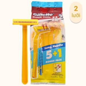 Bộ 5 cây dao cạo râu 2 lưỡi Gillette Super Thin II