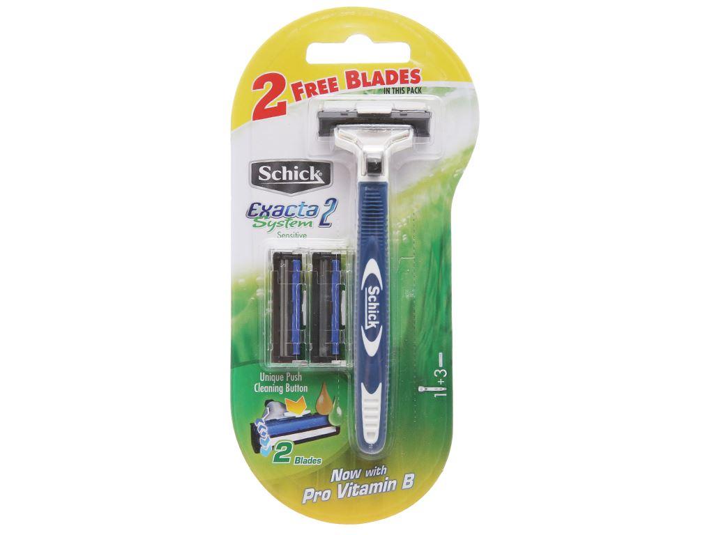 Dao cạo râu lưỡi kép Schick Exacta II System 1