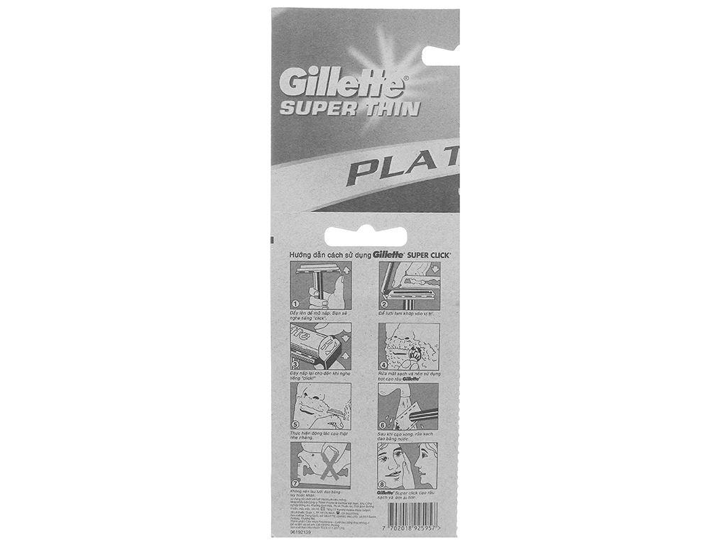 Dao cạo râu lưỡi đơn Gillette Super Thin 2