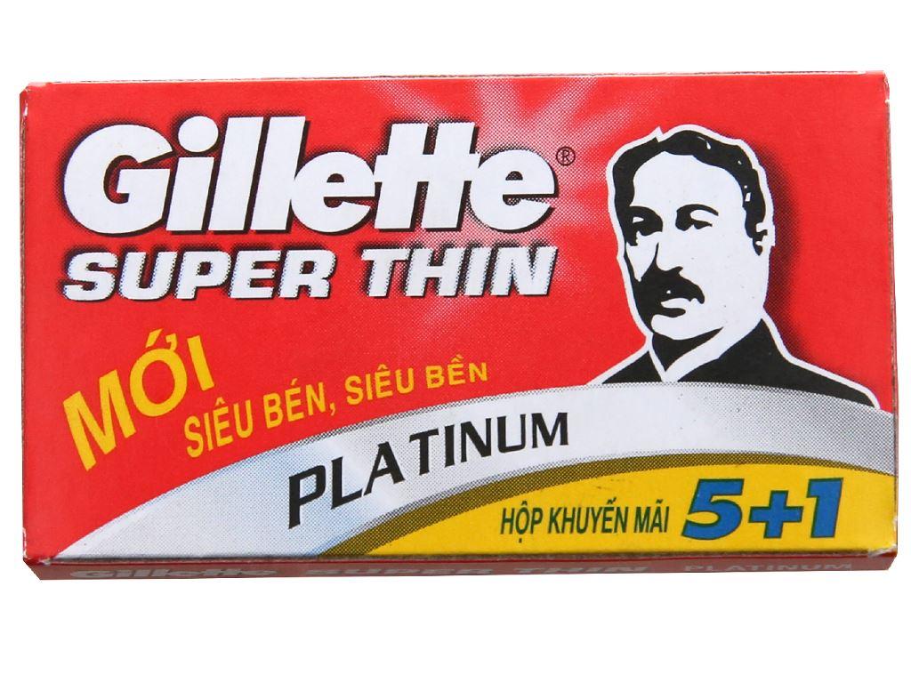 Hộp 5 cái lưỡi lam Gillette Super Thin 2