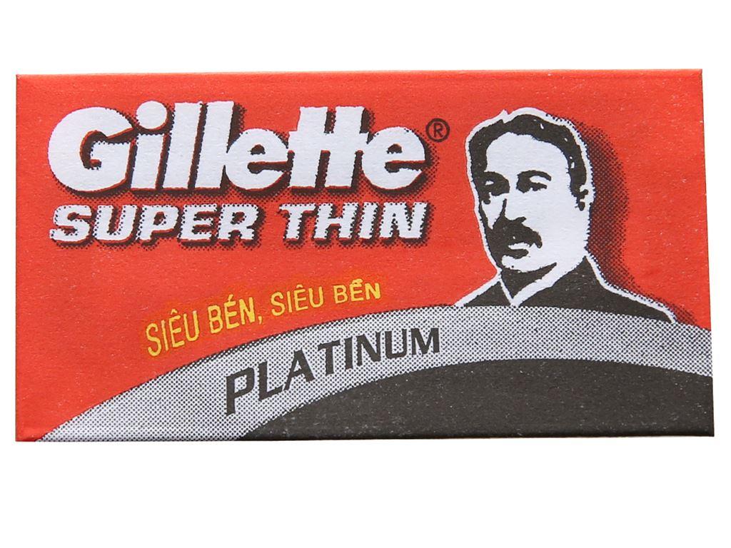 Hộp 5 cái lưỡi lam Gillette Super Thin 4