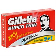 Lưỡi lam Gillette Super Thin (6 cái)