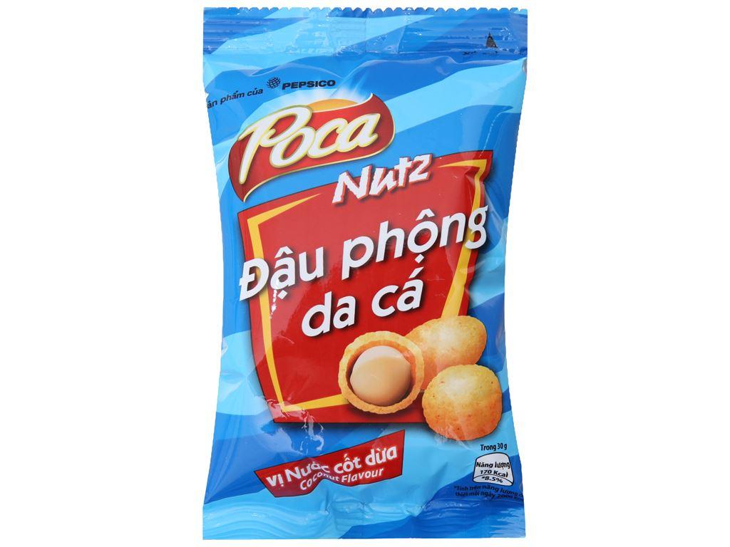 Đậu phộng da cá vị nước cốt dừa Poca gói 42g 1