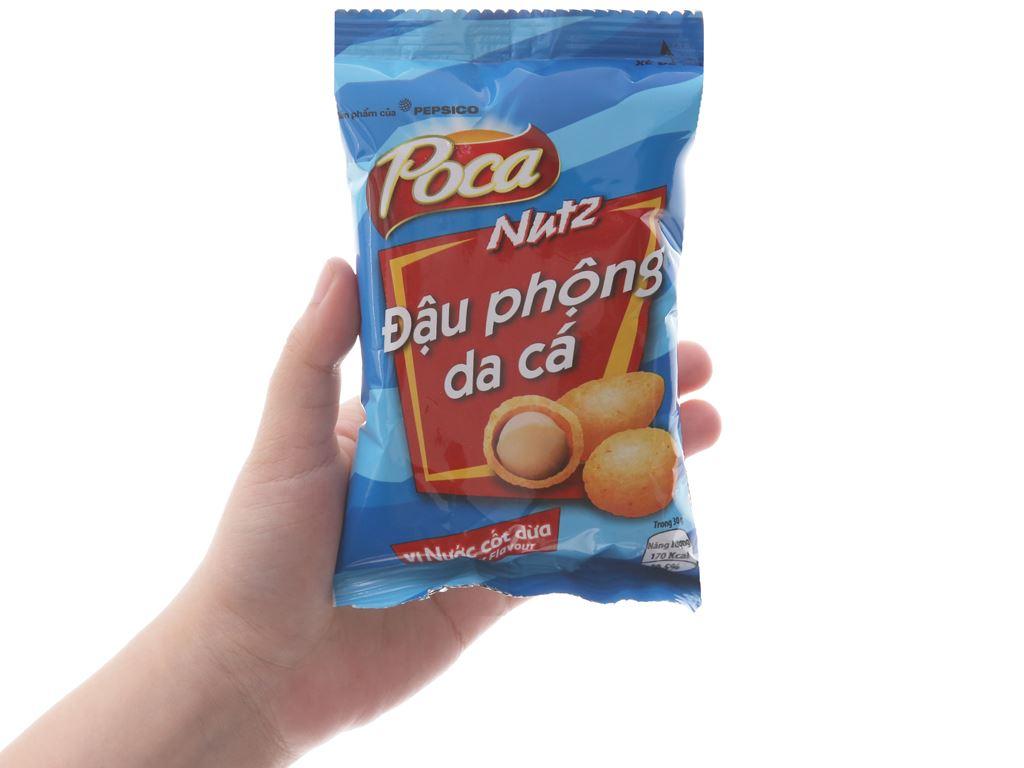 Đậu phộng da cá vị nước cốt dừa Poca gói 42g 3
