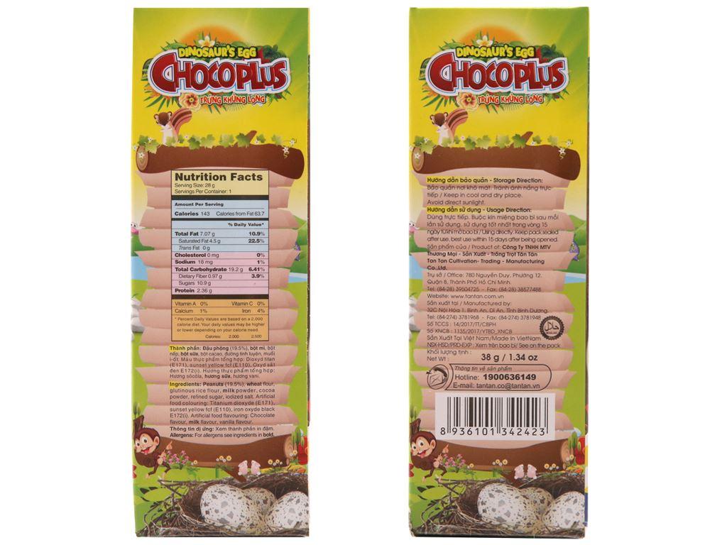 Đậu phộng trứng khủng long Chocoplus Tân Tân hộp 38g 2