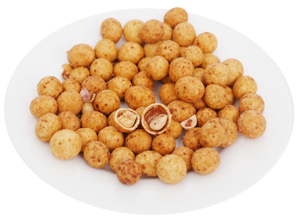 Snack nhân đậu phộng vị mực cay Pinattsu Oishi gói 100g 7