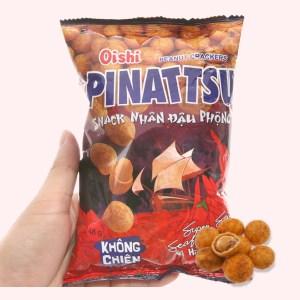 Snack nhân đậu phộng vị hải sản siêu cay Pinattsu Oishi gói 48g