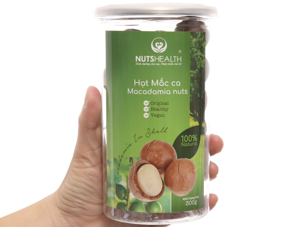 Hạt mắc ca Nutshealth hũ 300g 3