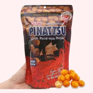 Snack nhân đậu phộng vị hải sản siêu cay Pinattsu Oishi gói 95g