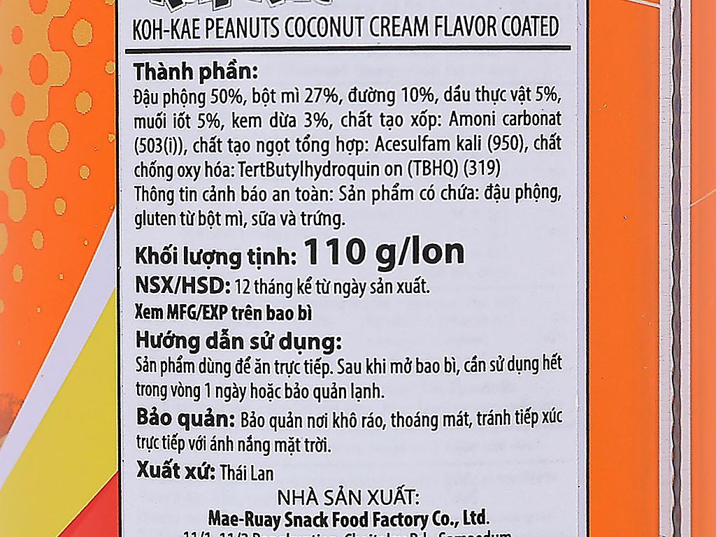 Đậu phộng vị kem dừa Koh-Kae lon 110g 4