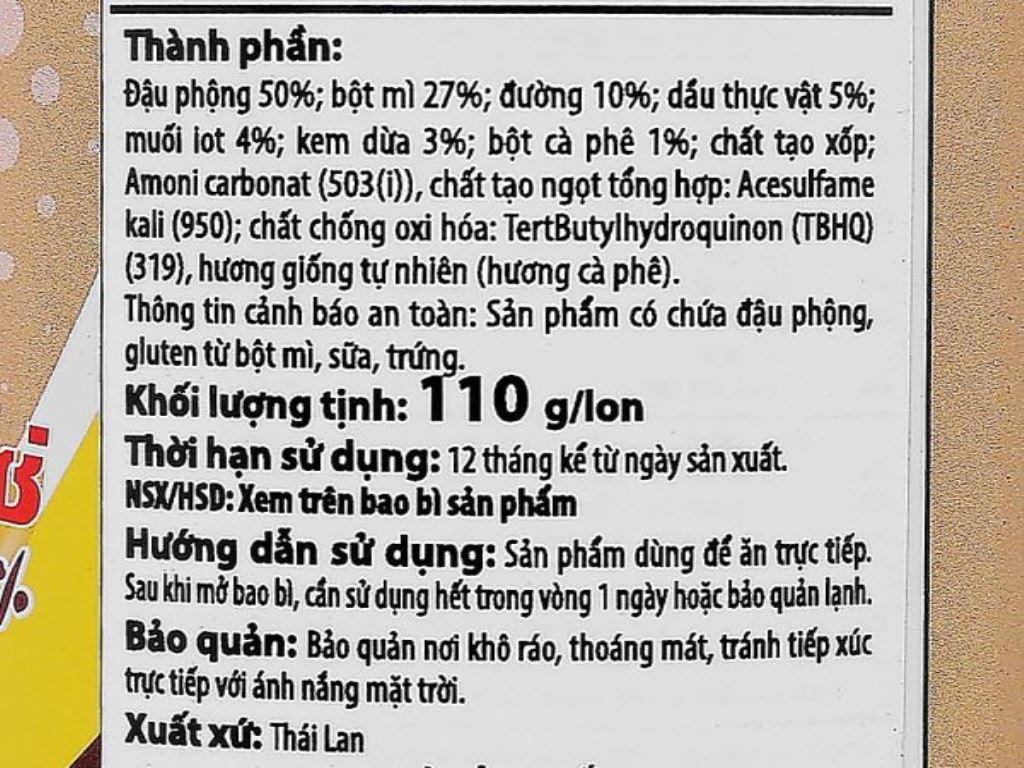 Đậu phộng vị cà phê Koh-Kae lon 110g 4