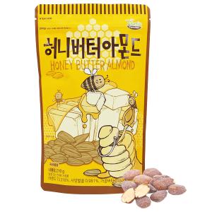 Hạt hạnh nhân tẩm bơ mật ong Tom's Farm túi 210g