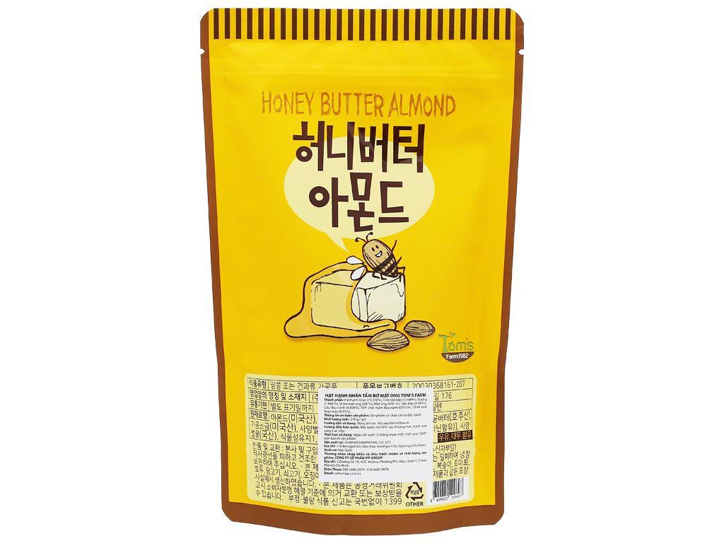 Hạt hạnh nhân tẩm bơ mật ong Tom's Farm túi 210g 2