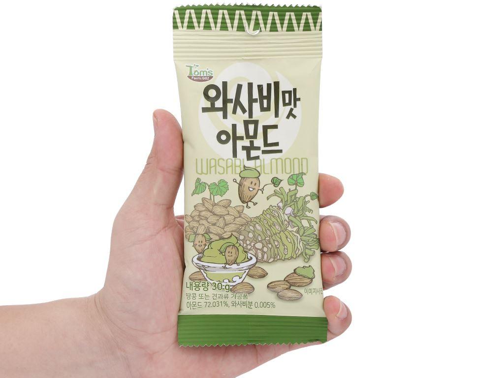 Hạt hạnh nhân tẩm wasabi Tom's Farm gói 30g 4