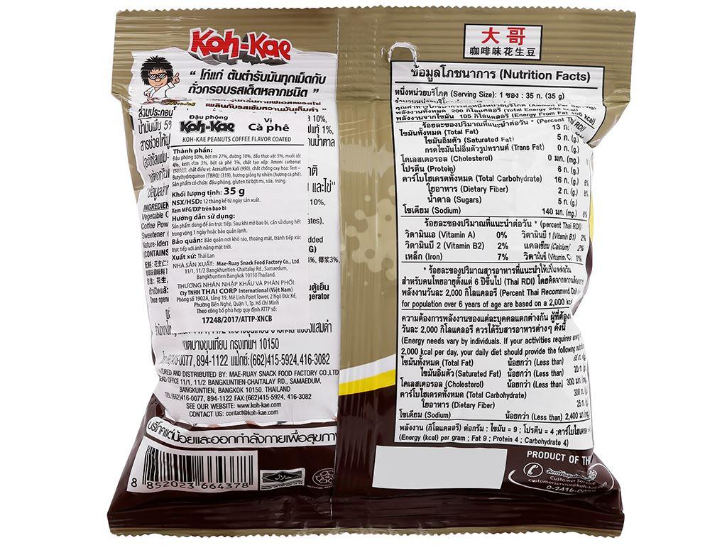 Đậu phộng vị cà phê Koh-Kae gói 35g 2