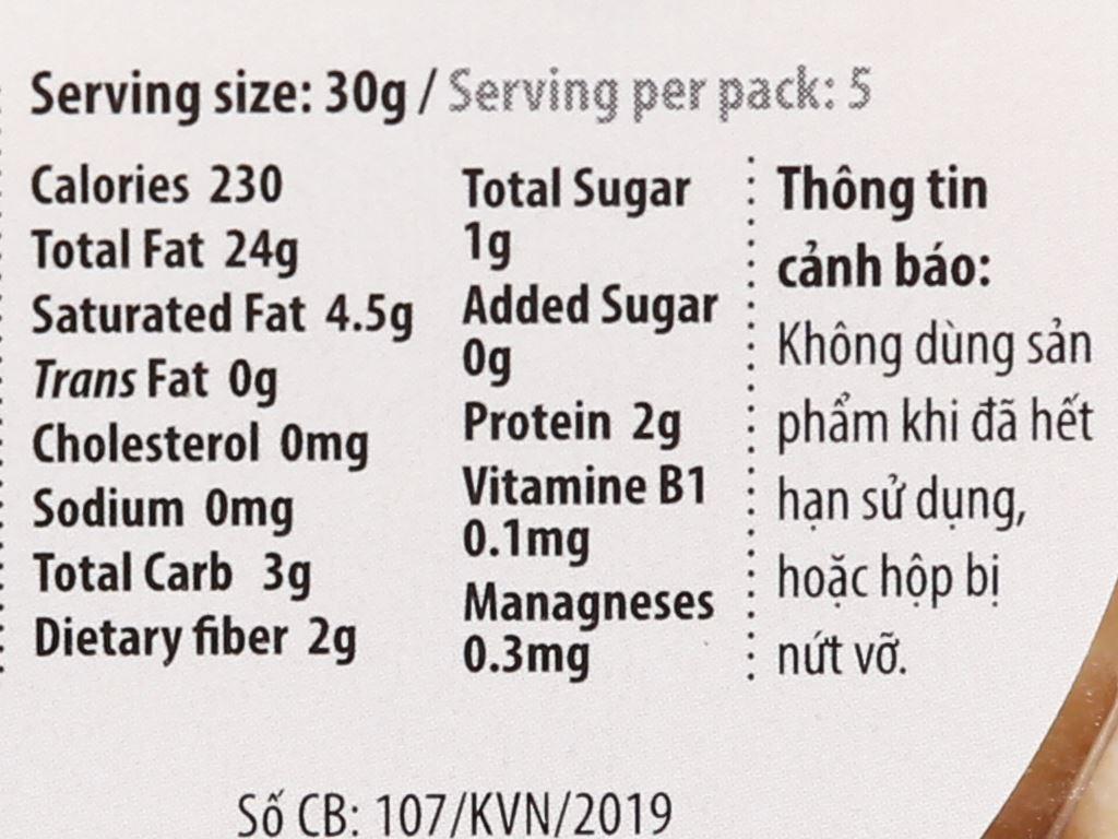 Nhân hạt mắc ca nướng Nutty hộp 150g 3