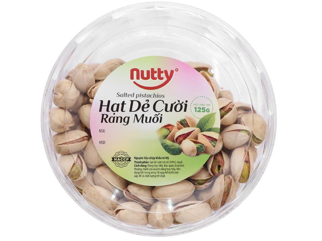 Hạt dẻ cười rang muối Nutty hộp 125g 1