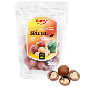 Hạt mắc ca nứt vỏ nướng Nutty túi 250g