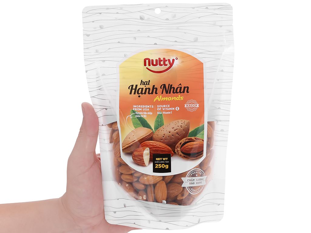 Hạt hạnh nhân Nutty túi 250g 5
