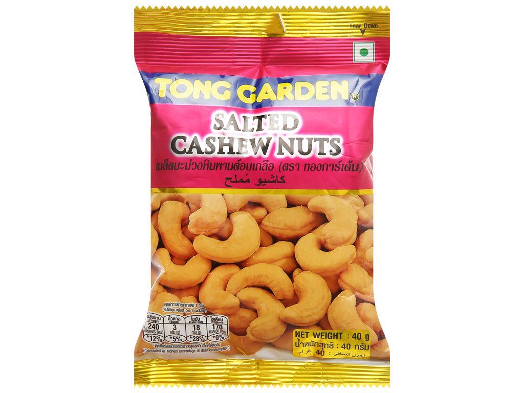Hạt điều rang muối Tong Garden gói 40g 1