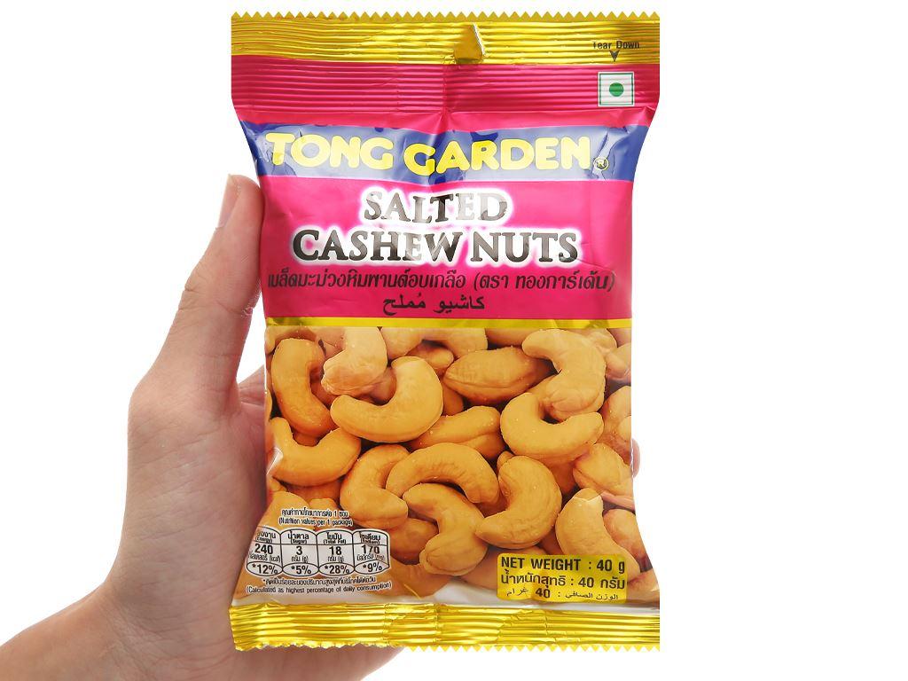 Hạt điều rang muối Tong Garden gói 40g 4
