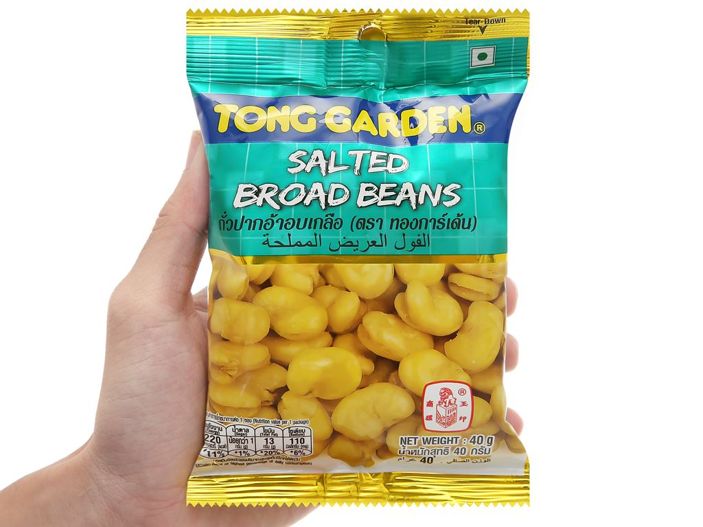 Đậu trắng rang muối Tong Garden gói 40g 4