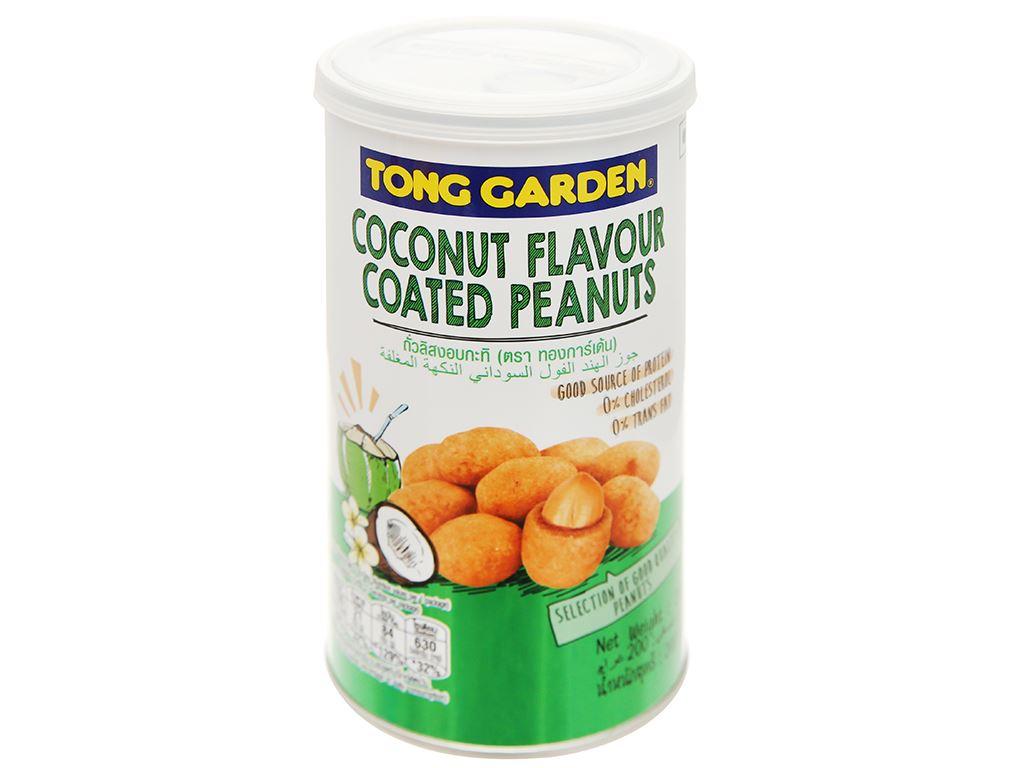 Đậu phộng bao sữa dừa Tong Garden lon 200g 1