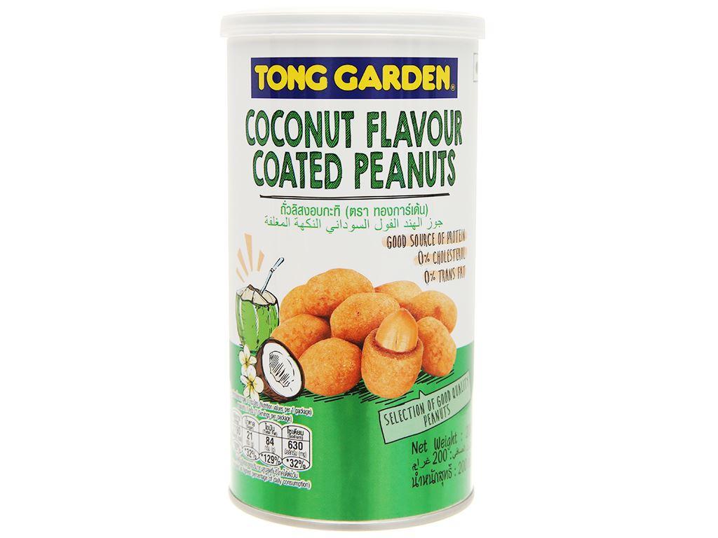 Đậu phộng bao sữa dừa Tong Garden lon 200g 2