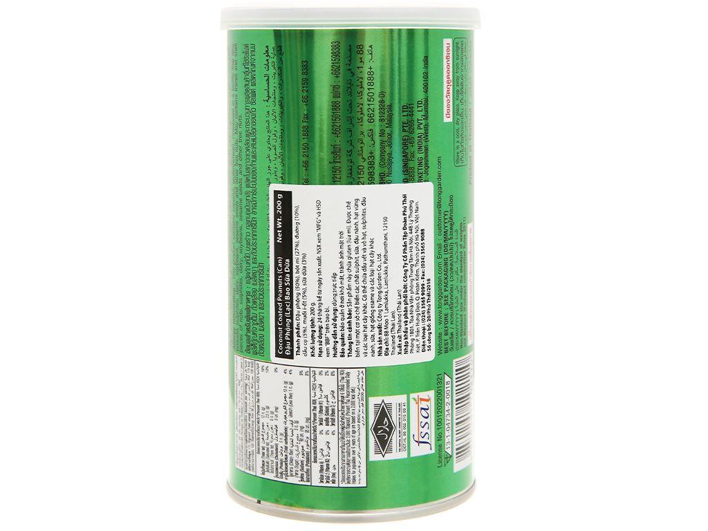 Đậu phộng bao sữa dừa Tong Garden lon 200g 3