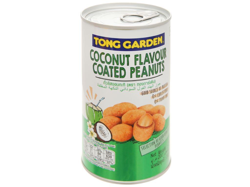 Đậu phộng bao sữa dừa Tong Garden lon 200g 5