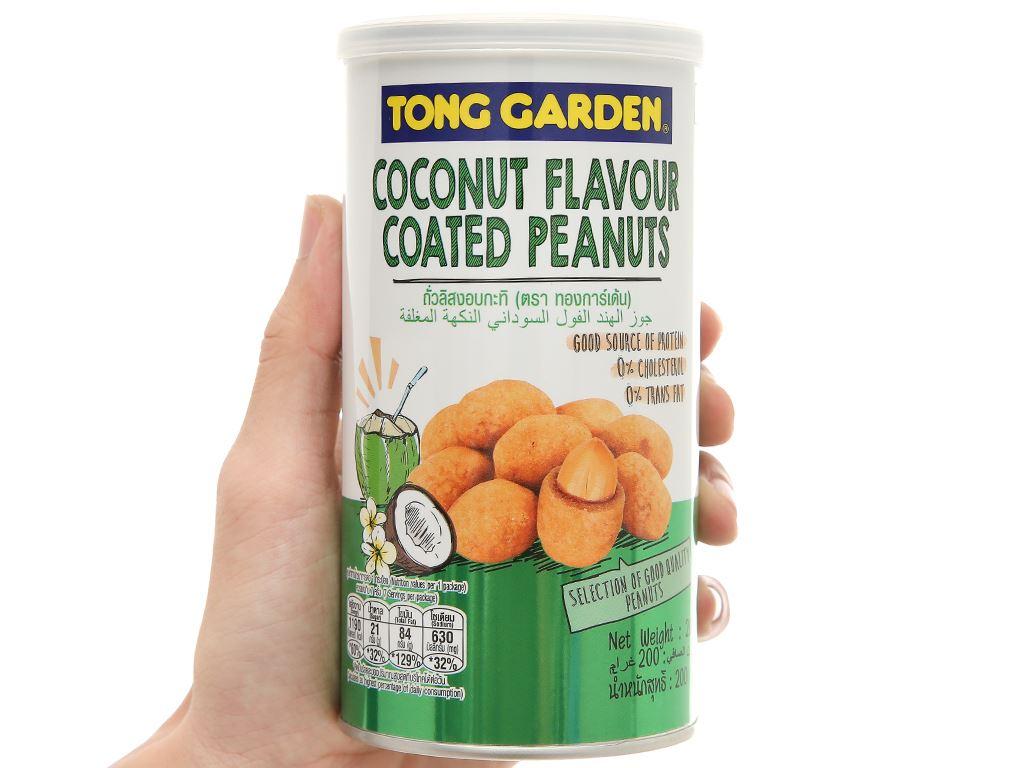 Đậu phộng bao sữa dừa Tong Garden lon 200g 6