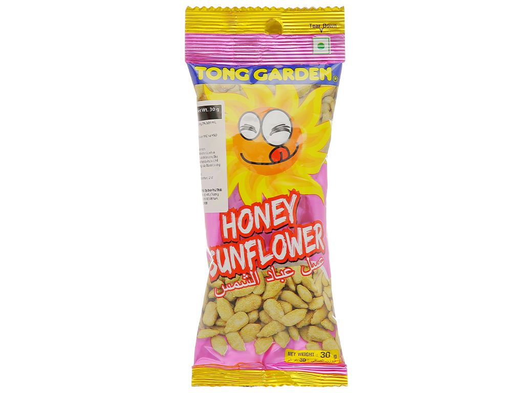 Hạt hướng dương tẩm mật ong Tong Garden gói 30g 1